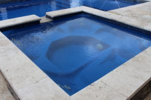 Leisure Pools Sorrento Spa Square with Spillover Sapphire Blue 2019 0502